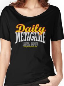 Daily Metagame Sport Red Stroke Women's Relaxed Fit T-Shirt