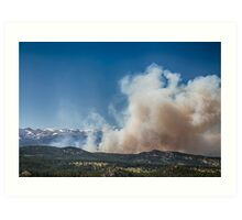 Cold Springs Fire Boulder County Colorado Art Print