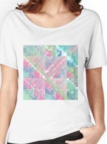 Pastel Tile - Abstract Fractal Artwork Women's Relaxed Fit T-Shirt