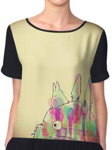 Ink Totoro Chiffon Top