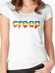 Rainbow Creep Women's Fitted Scoop T-Shirt