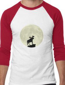 Midnight Moose Men's Baseball ¾ T-Shirt