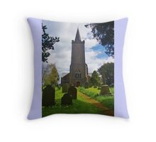 Blessed Virgin Mary Church, Rattery Throw Pillow