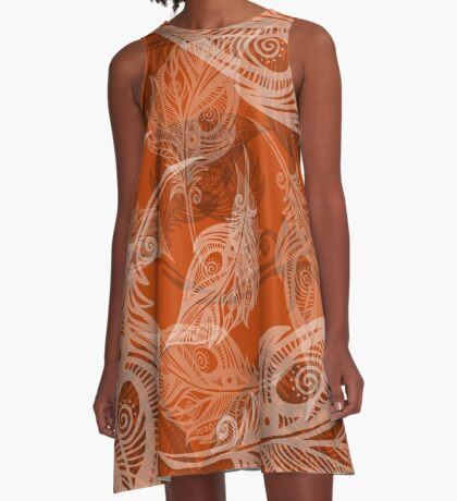 feather pattern A-Line Dress