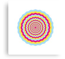 Psychedelic Circle Canvas Print