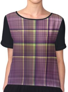 Plaid Color 2 Chiffon Top