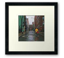 Rainy Delivery Framed Print