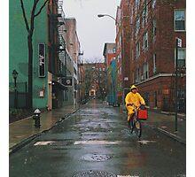 Rainy Delivery Photographic Print