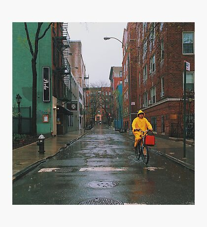 Rainy Delivery Photographic Print