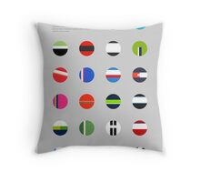 The Teams : Tour de France 2014 Throw Pillow