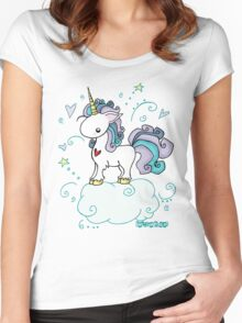 Fantastic Unicorn  Women's Fitted Scoop T-Shirt
