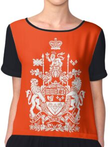 CANADA-COAT OF ARMS Chiffon Top
