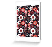 Seamless pattern of bright flowers Greeting Card