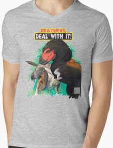 Feathers... DEAL WITH IT!! Mens V-Neck T-Shirt