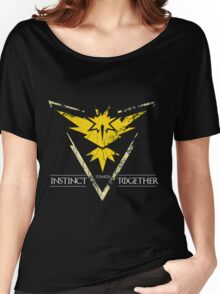 Team Instinct Stands Together(PokeGO! + GoT) Women's Relaxed Fit T-Shirt