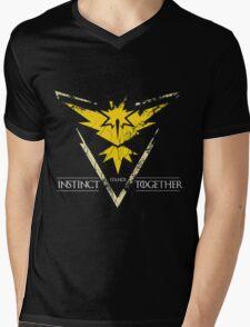 Team Instinct Stands Together(PokeGO! + GoT) Mens V-Neck T-Shirt
