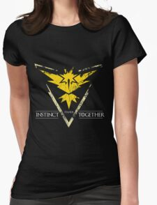 Team Instinct Stands Together(PokeGO! + GoT) Womens Fitted T-Shirt