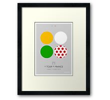 The Jerseys : Tour de France 2014 Framed Print
