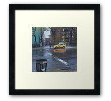 Taxi Standoff Framed Print
