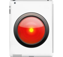 Red Eye over White Background iPad Case/Skin
