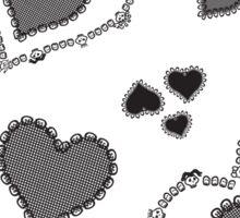 Skull Heart Pattern - Coordinate Sticker