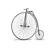 Vintage Penny-Farthing Bicycle Photographic Print