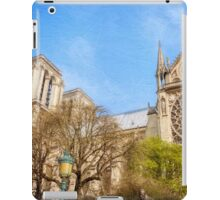 Notre Dame South Facade and Rose Window iPad Case/Skin