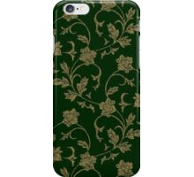 Grungy Green Floral Design iPhone Case/Skin