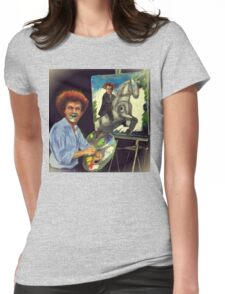 Steve Brule paints Womens Fitted T-Shirt