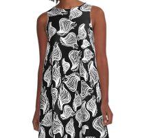 pod pattern A-Line Dress