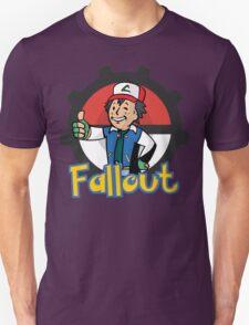Fallout Vault Boy / Ash Pokemon Crossover Unisex T-Shirt
