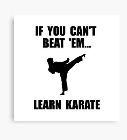 Learn Karate Canvas Print