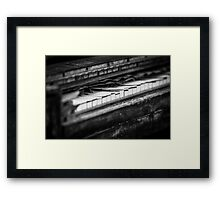 Musical Decay Framed Print