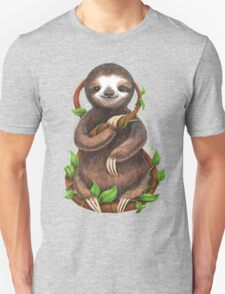 Happy Sloth in the Jungle Unisex T-Shirt