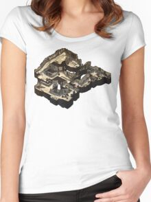 Dust 2 Isometric Map Women's Fitted Scoop T-Shirt