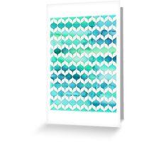 Ocean Rhythms and Mermaids Tails Greeting Card