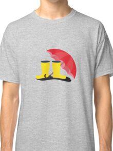 Rubber boots and umbrella   Classic T-Shirt