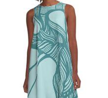 tree - blue/blue A-Line Dress
