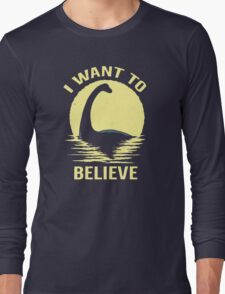 Believe In Nessie Long Sleeve T-Shirt
