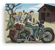 Dad with the Gang Canvas Print