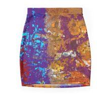 Graffiti Rust Mini Skirt