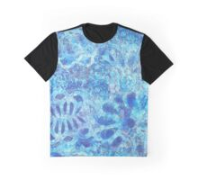 Shades of Blue Floral Graphic T-Shirt