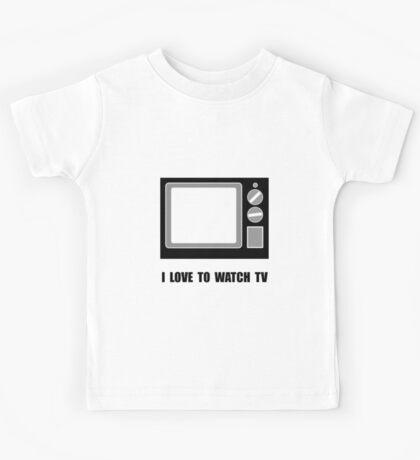 Love To Watch TV Kids Tee