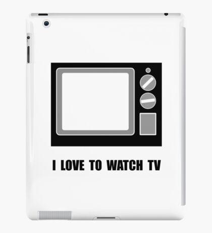 Love To Watch TV iPad Case/Skin