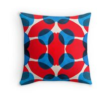 Red and Blue Ovals Throw Pillow