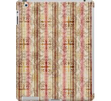 White, Pink, Brown & Gold Stripes and Swirls iPad Case/Skin