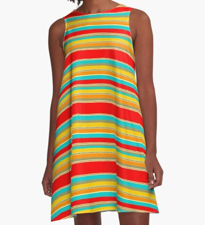 091214 Striped A-Line Dress