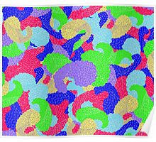 Multicolor Paisleys   Poster