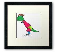 80s Rex - Let's Get Physical Framed Print