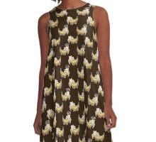 Banana Cat Pattern A-Line Dress